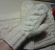 """Rukavice - Pletené rukavice palcové - """"palčiaky - 7604507_"""