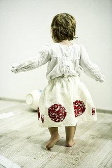 Detské oblečenie - Mini Slovenské devy, detská sukňa - 7604674_