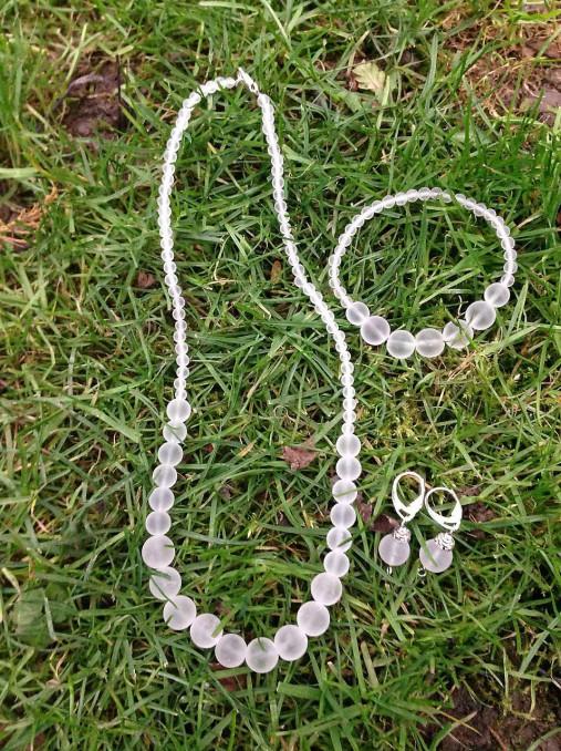 Ľadové... krištáľ - sada šperkov