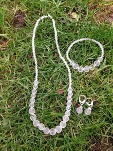 Sady šperkov - Ľadové... krištáľ - sada šperkov - 7604310_