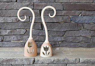Svietidlá a sviečky - milujem tulipány - svietnik - 7604279_