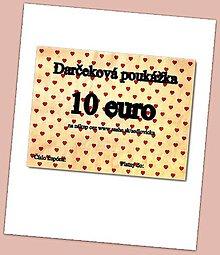 Darčekové poukážky - DARČEKOVÁ POUKÁŽKA - 7605399_