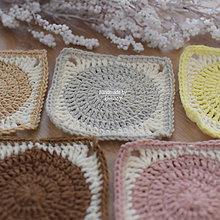 """Úžitkový textil - Podložky pod šálku """"farebné štvorce"""" - 7606169_"""