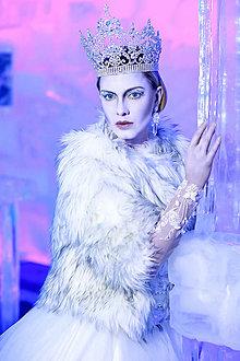 Náušnice - Ľadová kráľovná...náušnice - 7605627_