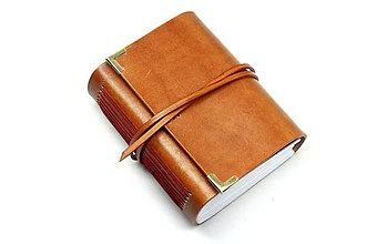 Papiernictvo - Kožený zápisník TANKAM - 7606187_