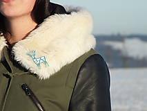 Odznaky/Brošne - Jeleň silver/turquoise blue - 7605427_