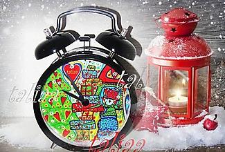 Hodiny - Vianočný BUDÍK a pohľadnica VIANOCE zdarma - 7605829_