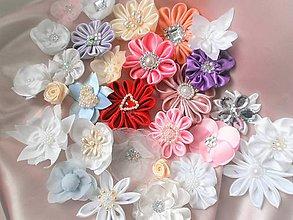 Iné doplnky - Saténové kvety - 7606922_