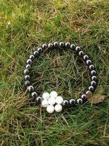 Náramky - Hematit s perleťou - náramok - 7607253_