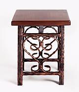 Nábytok - Kovaný stolček - 7606364_