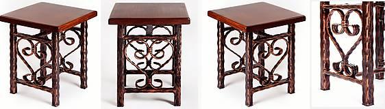 Nábytok - Kovaný stolček - 7606366_