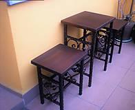 Nábytok - Kovaná balkónová súprava - 7606397_