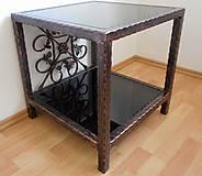 Nábytok - Kovaný nočný/konferenčný stolík - 7606401_