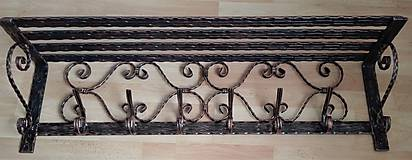 Nábytok - Kovaný vešiak s policou - 7606421_