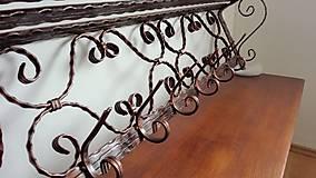 Nábytok - Kovaný vešiak s policou - 7606423_