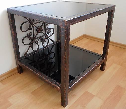 Kovaný nočný/konferenčný stolík