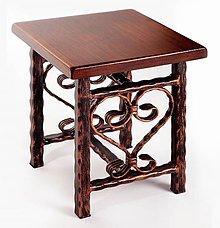 Nábytok - Kovaný stolček - 7606363_