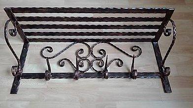 Nábytok - Kovaný vešiak s policou 77 cm - 7606392_