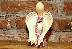 Svietidlá a sviečky - Anjel - svetlík. - 7607951_