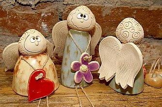 Dekorácie - Posedaví anjeli - 7607958_