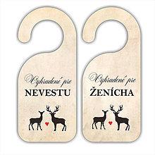 Darčeky pre svadobčanov - Visačky pre nevestu a ženícha - 7609679_