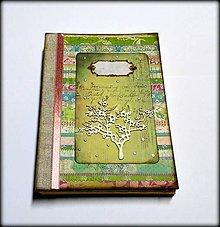 Papiernictvo - Ručne šitý denník/notes/zápisník/diár/náčrtník/skicár ,,Spring\