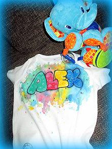 Detské oblečenie - Meno na tričku - 7609228_