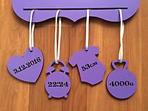 Rámiky - Rámik + prívesky s údajmi o narodení - 7609616_