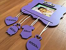 Rámiky - Rámik + prívesky s údajmi o narodení - 7609617_