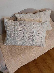 Úžitkový textil - Pletený vankúš - 7608119_