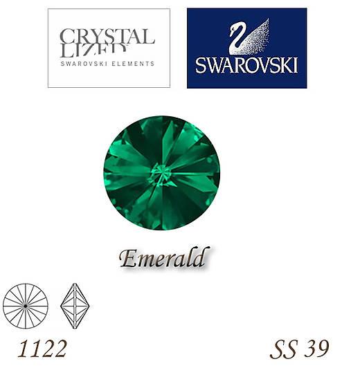 SWAROVSKI® ELEMENTS 1122 Rivoli - Emerald, SS 39(8mm), bal.1ks