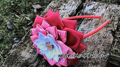 Detské doplnky - Čelenka ružová s dreveným jabĺčkom - 7610458_