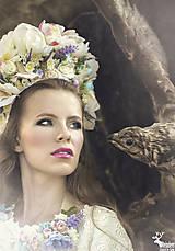 Ozdoby do vlasov - Kvetinová ľudová parta