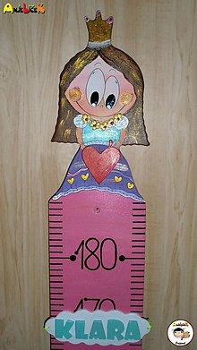 Detské doplnky - Meter na stenu - princezná - 7610379_