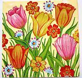 - Servítka  A5-tulipány - 7612165_