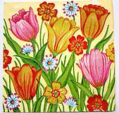 Papier - Servítka  A5-tulipány - 7612165_