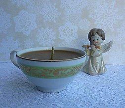 Svietidlá a sviečky - teacup candle / sviečka v šálke - 7610835_