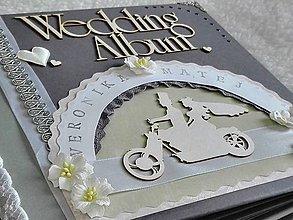 Papiernictvo - Svadobný fotoalbum veľký luxusný - 7612053_