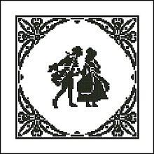 Návody a literatúra - B004 Dáma a džentlmen - predloha na vyšívanie - 7612369_