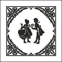 Návody a literatúra - B005 Dáma a džentlmen - predloha na vyšívanie - 7612371_