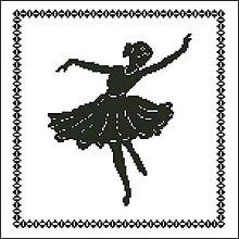 Návody a literatúra - B009 Baletka - predloha na vyšívanie - 7612395_
