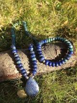 Sady šperkov - Lapis lazuli s chryzokolom - sada šperkov - 7612136_