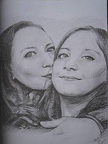 Kresby - mama a dcéra... ♥ - 7610095_