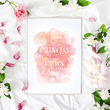Grafika - Artprint // chin up princess - 7611411_