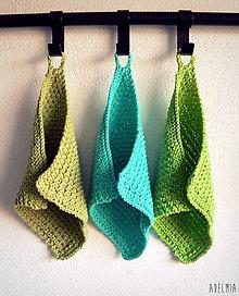 Úžitkový textil - ručne pletené žinky - jarné - 7611846_