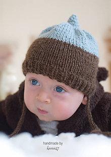 Detské čiapky - Pletená čiapočka nielen na fotenie... °°° SKLADOM - 7613867_