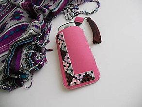 Na mobil - Purpurové mámenie (vyšívané púzdro) - 7613001_