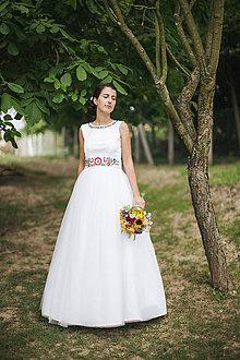 Šaty - Folklórne svadobné šaty - 7614748_