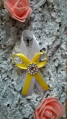 Pierka - Svadobné pierko žlté - 7613703_