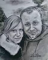 Kresby - Portrét-párik - 7613740_